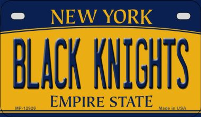 Black Knights Novelty Metal Motorcycle Plate MP-12926