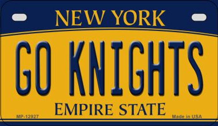 Go Black Knights Novelty Metal Motorcycle Plate MP-12927