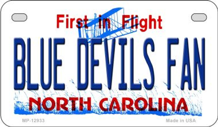 Blue Devils Fan Novelty Metal Motorcycle Plate MP-12933