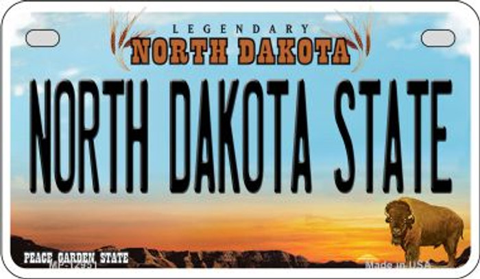 North Dakota State Novelty Metal Motorcycle Plate MP-12951