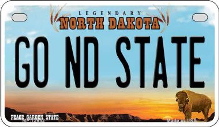 Go North Dakota State Novelty Metal Motorcycle Plate MP-12952