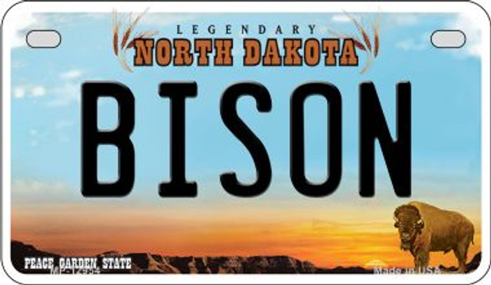 Bison Novelty Metal Motorcycle Plate MP-12954