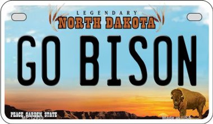 Go Bison Novelty Metal Motorcycle Plate MP-12955