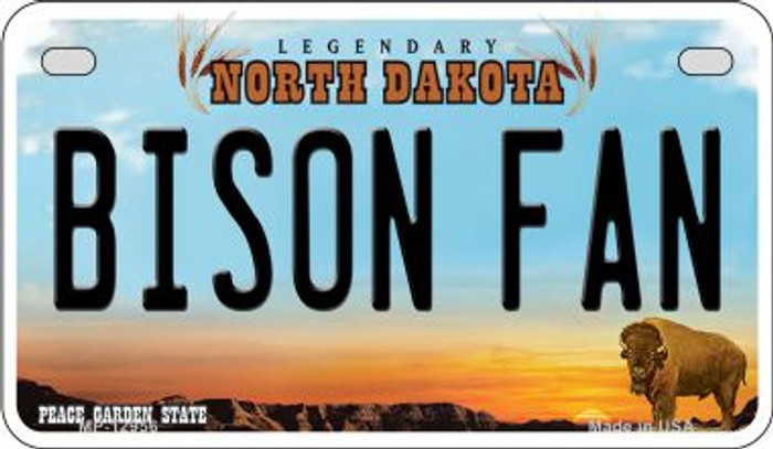 Bison Fan Novelty Metal Motorcycle Plate MP-12956