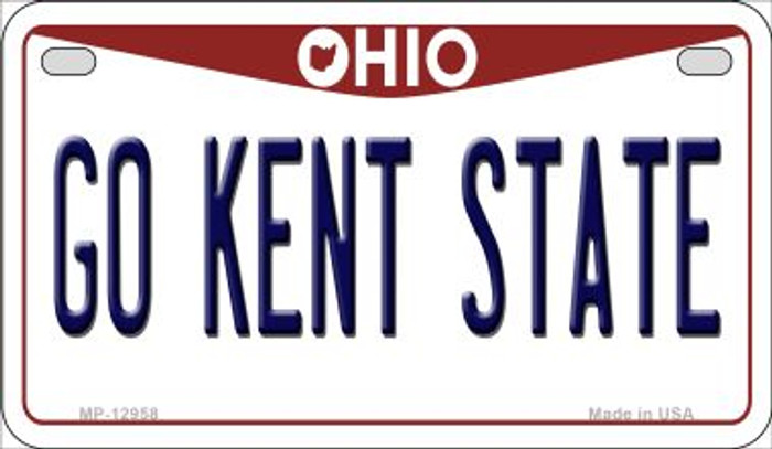 Go Kent State Novelty Metal Motorcycle Plate MP-12958
