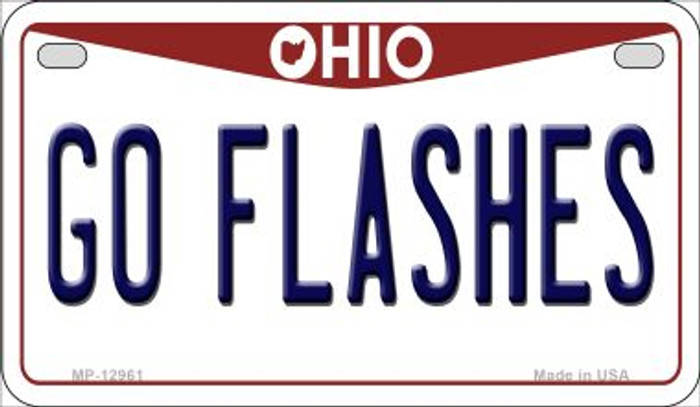 Go Flashes Novelty Metal Motorcycle Plate MP-12961