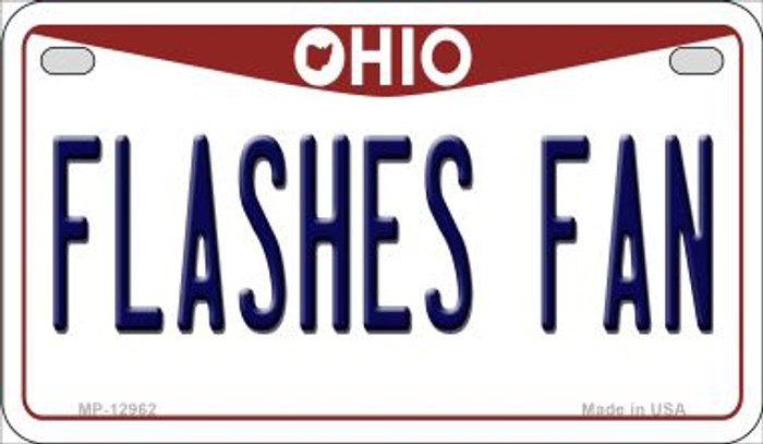 Flashes Fan Novelty Metal Motorcycle Plate MP-12962