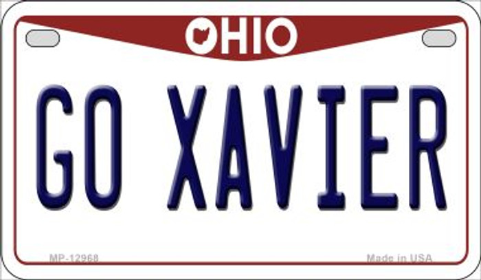 Go Xavier Novelty Metal Motorcycle Plate MP-12968