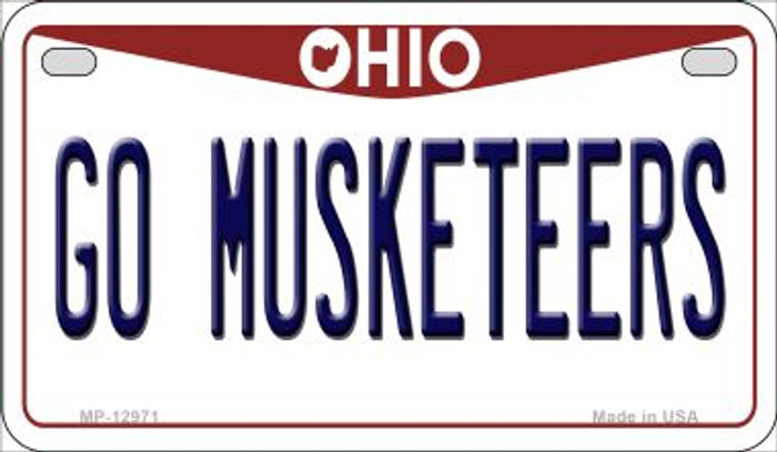 Go Musketeers Novelty Metal Motorcycle Plate MP-12971