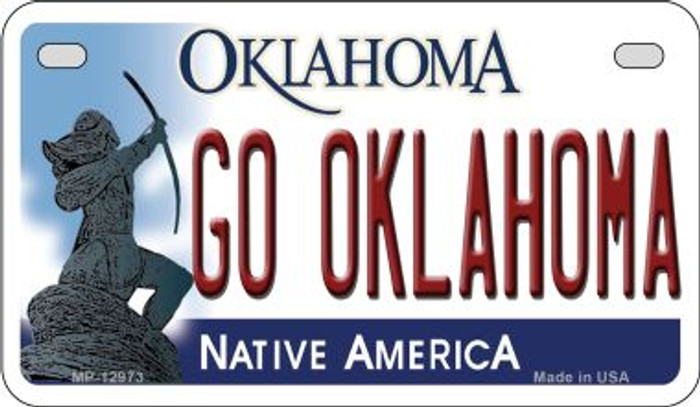 Go Oklahoma Novelty Metal Motorcycle Plate MP-12973