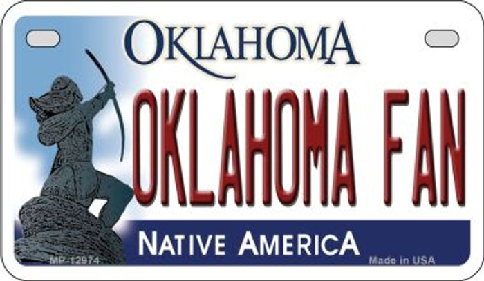 Oklahoma Fan Novelty Metal Motorcycle Plate MP-12974