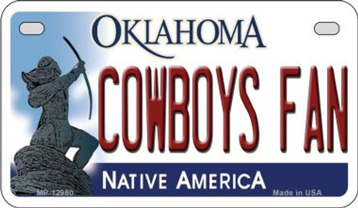 Cowboys Fan Novelty Metal Motorcycle Plate MP-12980