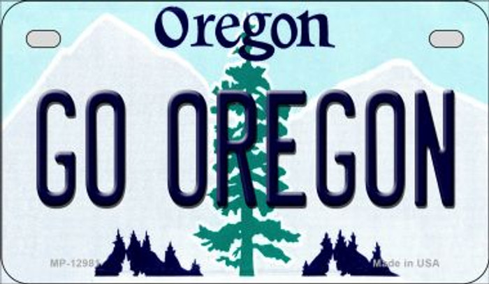 Go Oregon Novelty Metal Motorcycle Plate MP-12981
