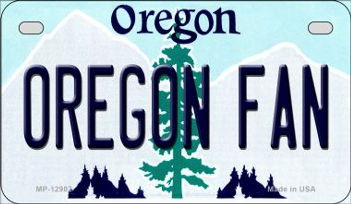 Oregon Fan Novelty Metal Motorcycle Plate MP-12982