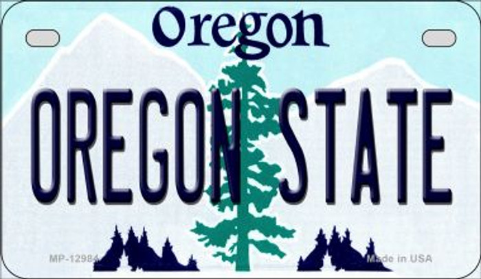 Oregon State Novelty Metal Motorcycle Plate MP-12984