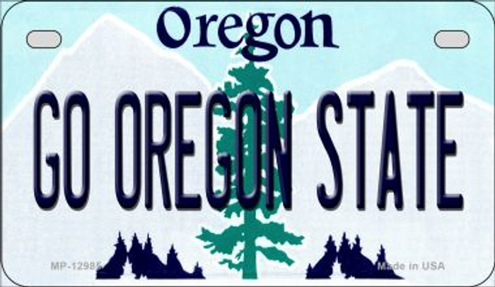 Go Oregon State Novelty Metal Motorcycle Plate MP-12985