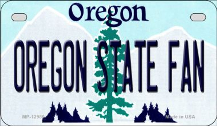 Oregon State Fan Novelty Metal Motorcycle Plate MP-12986