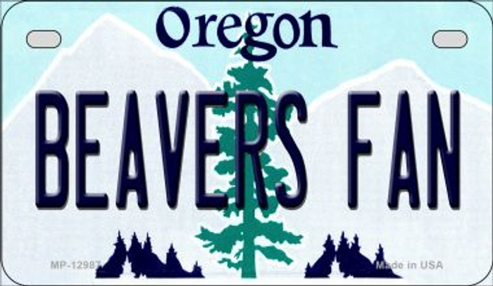 Beavers Fan Novelty Metal Motorcycle Plate MP-12987