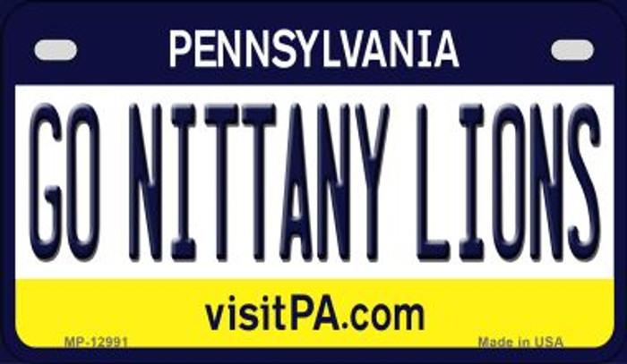 Go Nittany Lions Novelty Metal Motorcycle Plate MP-12991