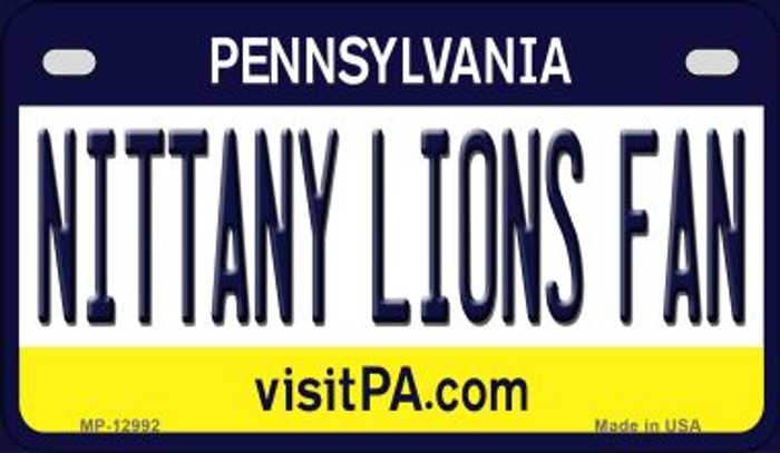 Nittany Lions Fan Novelty Metal Motorcycle Plate MP-12992