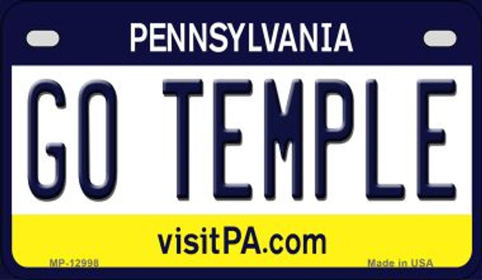 Go Temple Novelty Metal Motorcycle Plate MP-12998