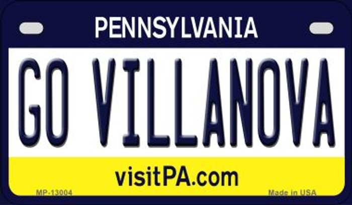 Go Villanova Novelty Metal Motorcycle Plate MP-13004