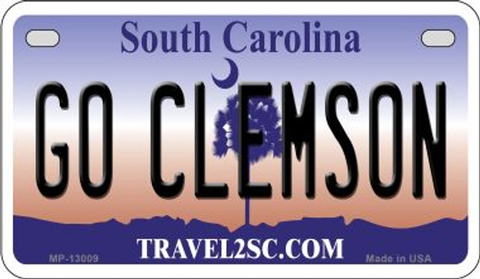 Go Clemson Novelty Metal Motorcycle Plate MP-13009
