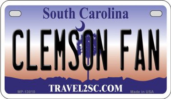 Clemson Fan Novelty Metal Motorcycle Plate MP-13010