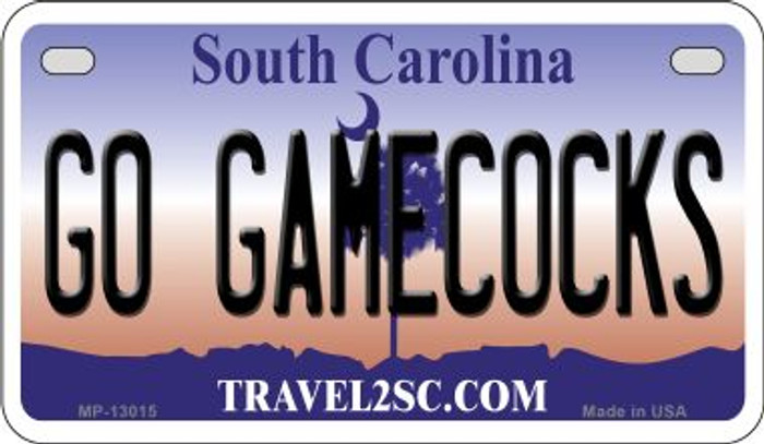Go Gamecocks  Novelty Metal Motorcycle Plate MP-13015