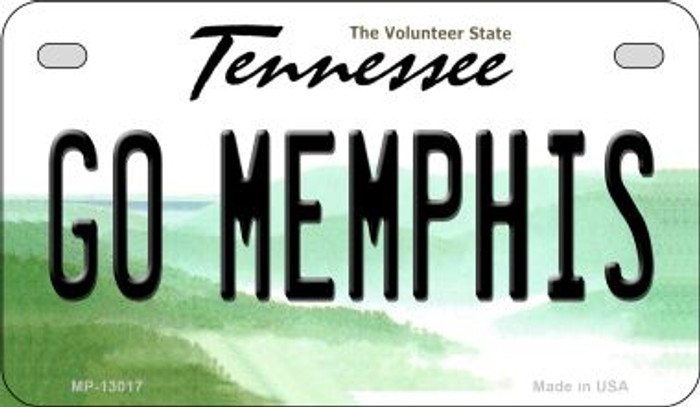 Go Memphis Novelty Metal Motorcycle Plate MP-13017