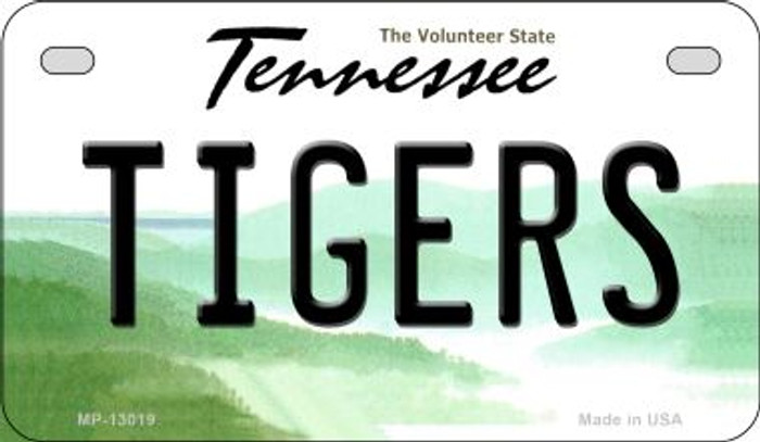 Tigers Novelty Metal Motorcycle Plate MP-13019