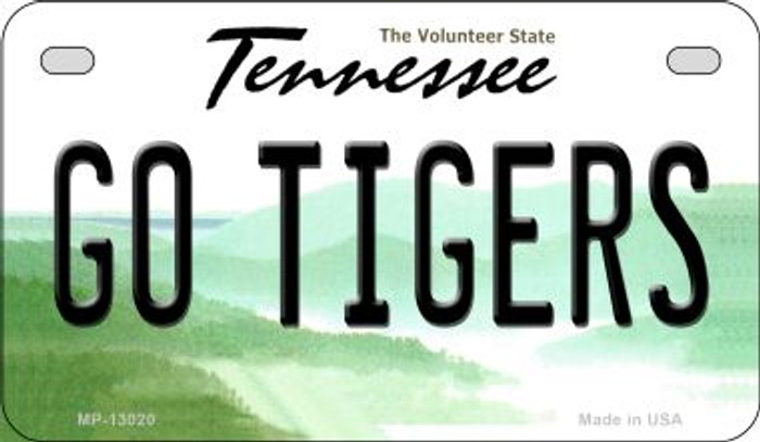 Go Tigers Novelty Metal Motorcycle Plate MP-13020