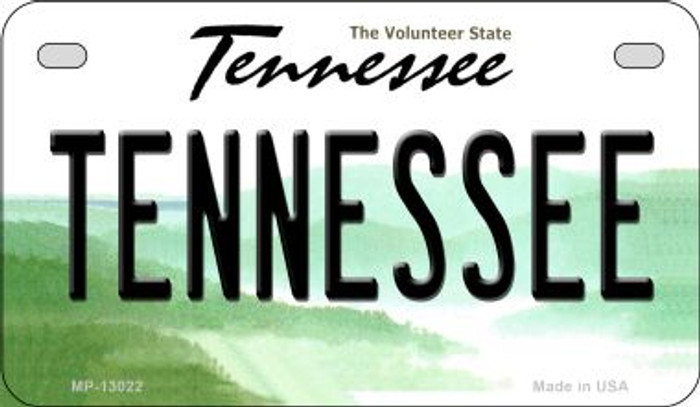 Tennessee Novelty Metal Motorcycle Plate MP-13022