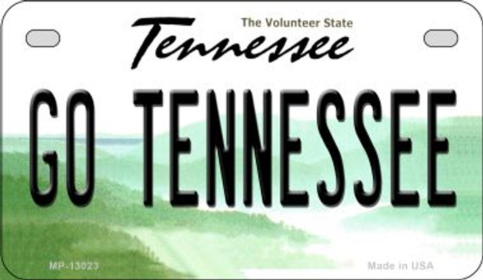 Go Tennessee Novelty Metal Motorcycle Plate MP-13023