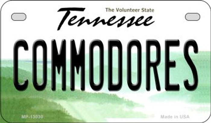 Commodores Novelty Metal Motorcycle Plate MP-13030