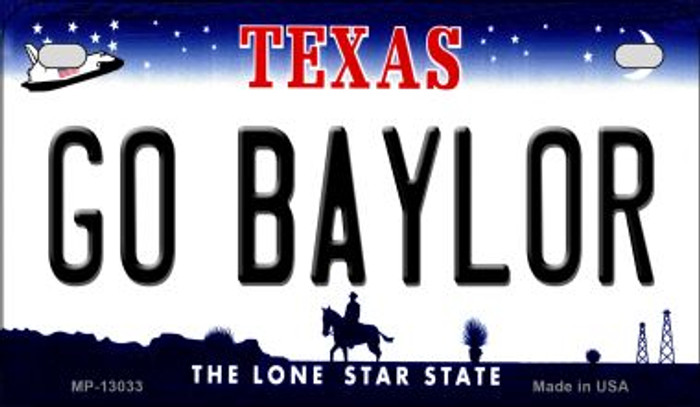 Go Baylor Novelty Metal Motorcycle Plate MP-13033