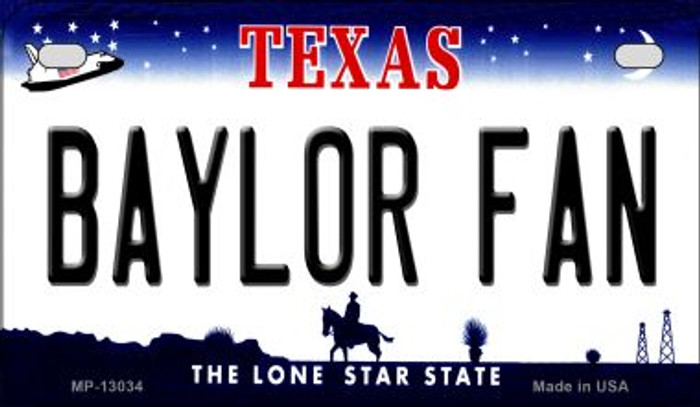 Baylor Fan Novelty Metal Motorcycle Plate MP-13034