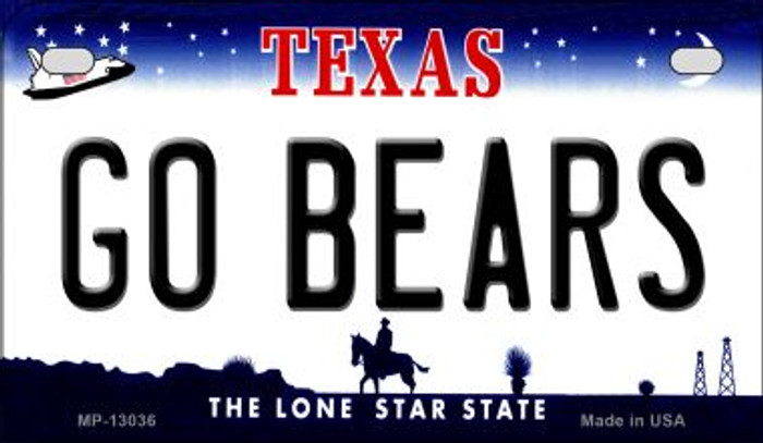 Go Bears Novelty Metal Motorcycle Plate MP-13036