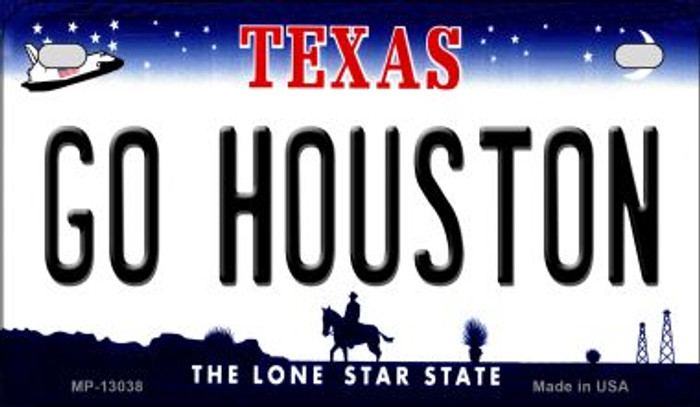Go Houston Novelty Metal Motorcycle Plate MP-13038