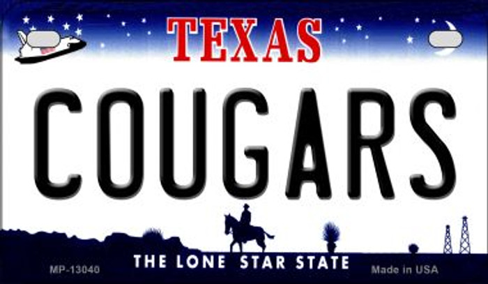 Cougars Novelty Metal Motorcycle Plate MP-13040