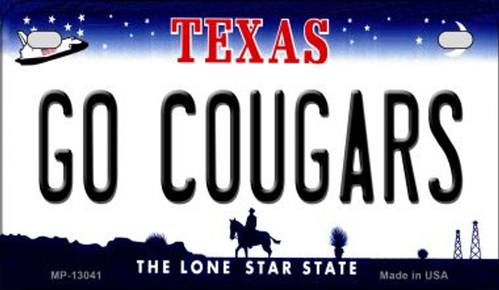 Go Cougars Novelty Metal Motorcycle Plate MP-13041