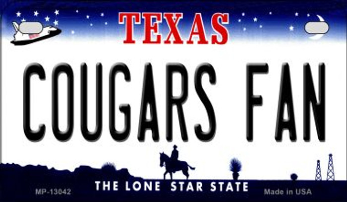 Cougars Fan Novelty Metal Motorcycle Plate MP-13042