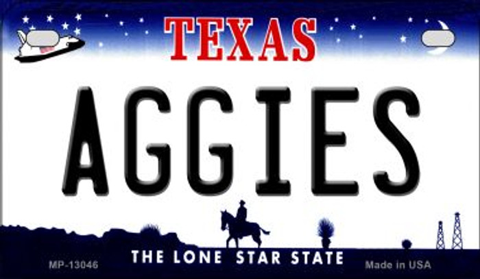 Aggies Novelty Metal Motorcycle Plate MP-13046
