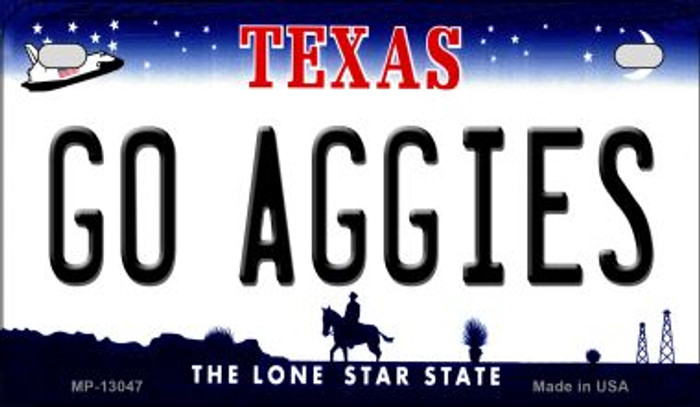 Go Aggies Novelty Metal Motorcycle Plate MP-13047