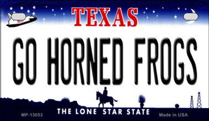 Go Horned Frogs Novelty Metal Motorcycle Plate MP-13053