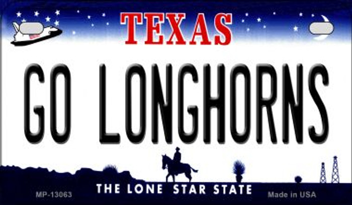 Go Longhorns Novelty Metal Motorcycle Plate MP-13063