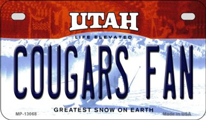 Cougars Fan Novelty Metal Motorcycle Plate MP-13068