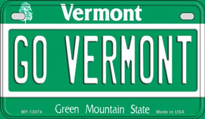 Go Vermont Novelty Metal Motorcycle Plate MP-13074