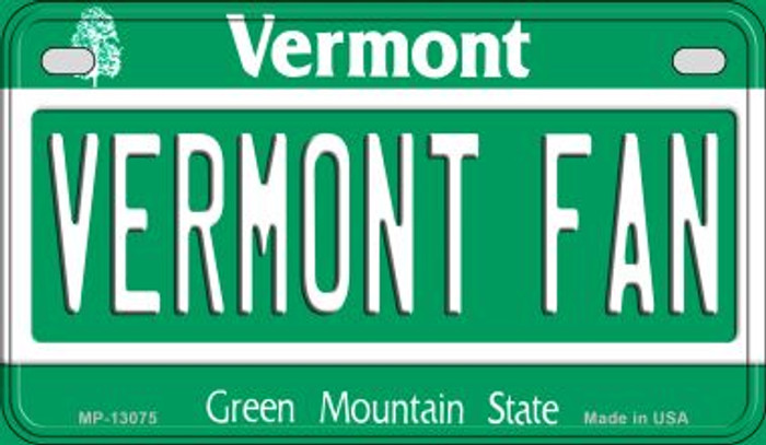 Vermont Fan Novelty Metal Motorcycle Plate MP-13075