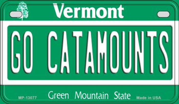 Go Catamounts Novelty Metal Motorcycle Plate MP-13077